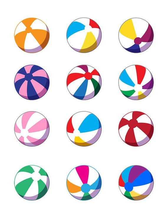 12 Beach Ball Clipart Summer Clipart Pool Clip Art Beach Clipart Toy Clipart Vacation Vector Clip Art Png Ai Eps Beach Clipart Clip Art Summer Clipart