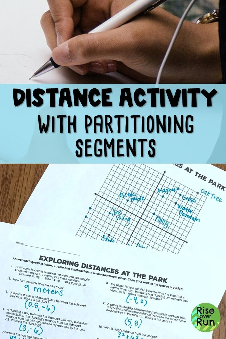 Use This Activity To Practice Calculating Distance On A Coordinate Plane Locating Midpoints And Partitioning Map Activities Geometry High School Segmentation [ 1152 x 768 Pixel ]
