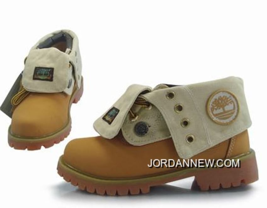 Timberland Women Roll Top Boots Wheat Brown Discount