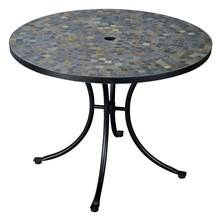 Dining Table with Slate Tile Top