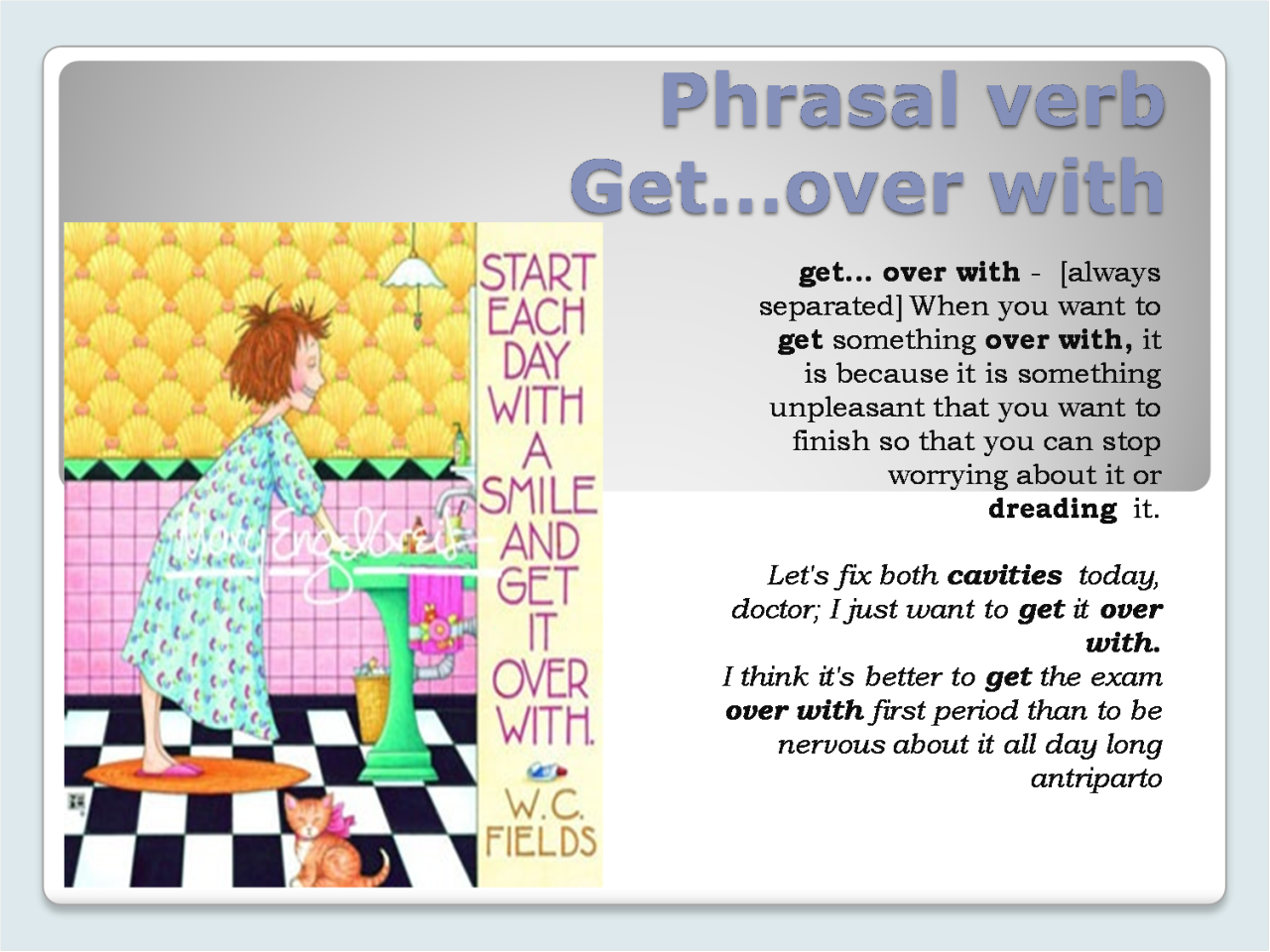 Hellolearnenglishwithantriparto Phrasal Verb Get Over