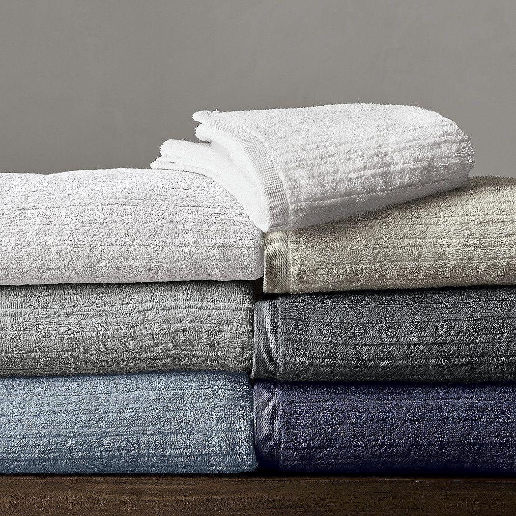 Ribbed Grey Bath Towel Reviews Crate And Barrel Grey Bath