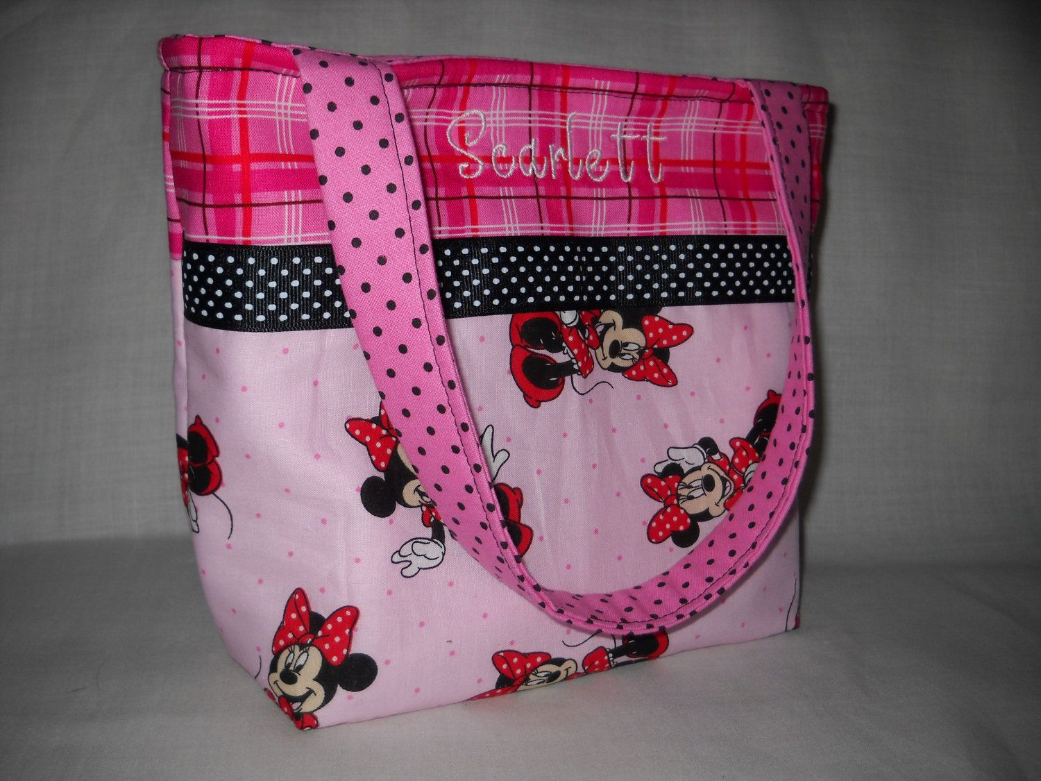 Little S Purse Small Childs Handbag Personalized Minnie Mouse Vogue Handmade Mini Tote Bag 15 00
