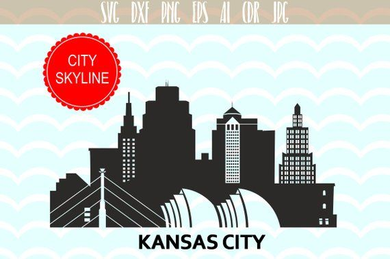 Kansas City Svg Usa Vector Skyline Kansas City Silhouette Svg Dxf Eps Ai Skyline Clipart Design Kansas City Clip Art Kansas City Skyline City Vector Clipart Design