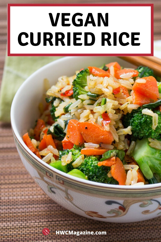 Vegan Curried Rice Recipe In 2020 Asian Vegetarian Recipes Vegan Curry Vegan Curry Rice