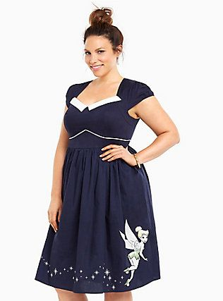 Plus Size Disney Tinkerbell Collection Rockabilly Skater ...