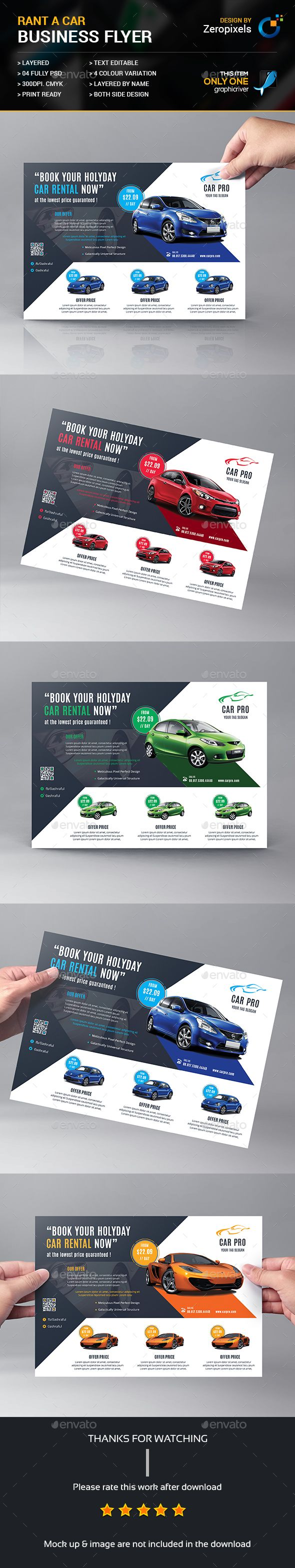 Rant A Car Business Flyer Automotores Visitenkarten