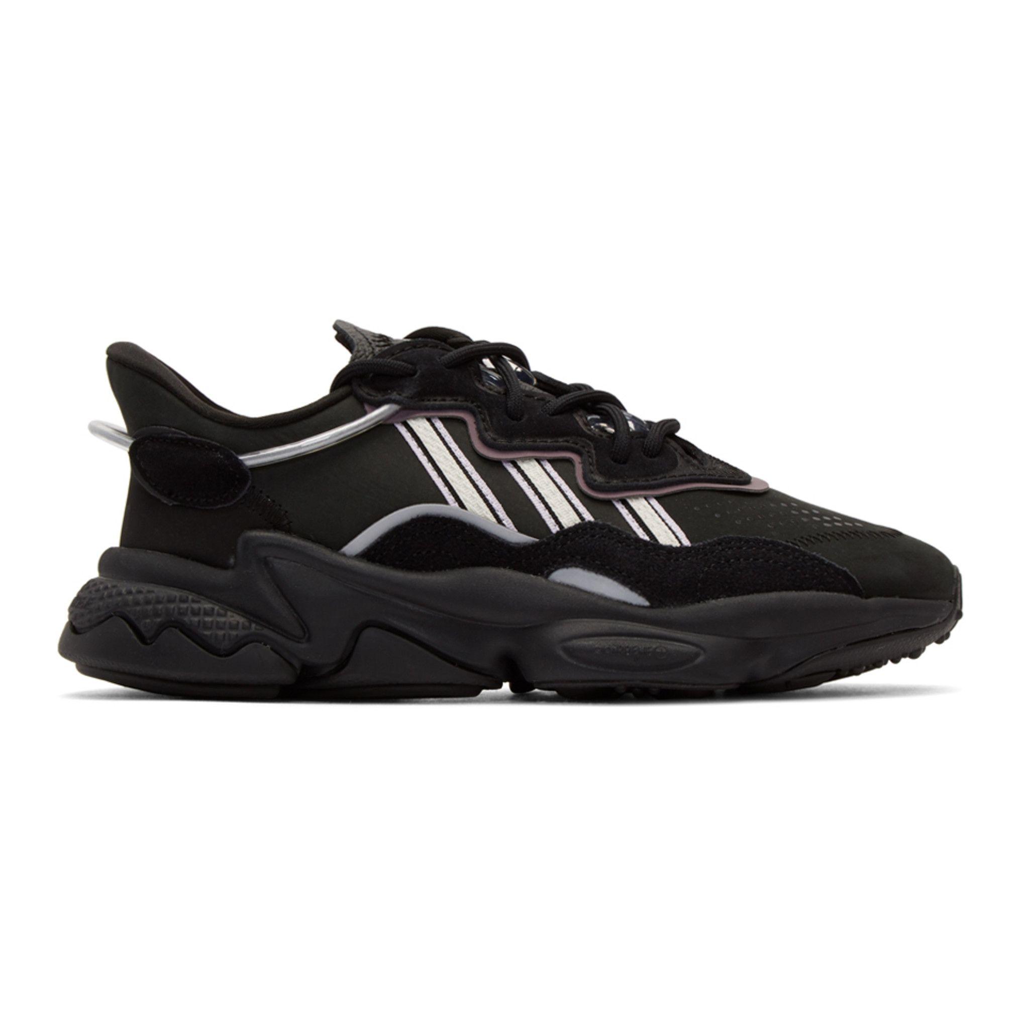 adidas Originals: Black Ozweego Sneakers   SSENSE in 2020 ...