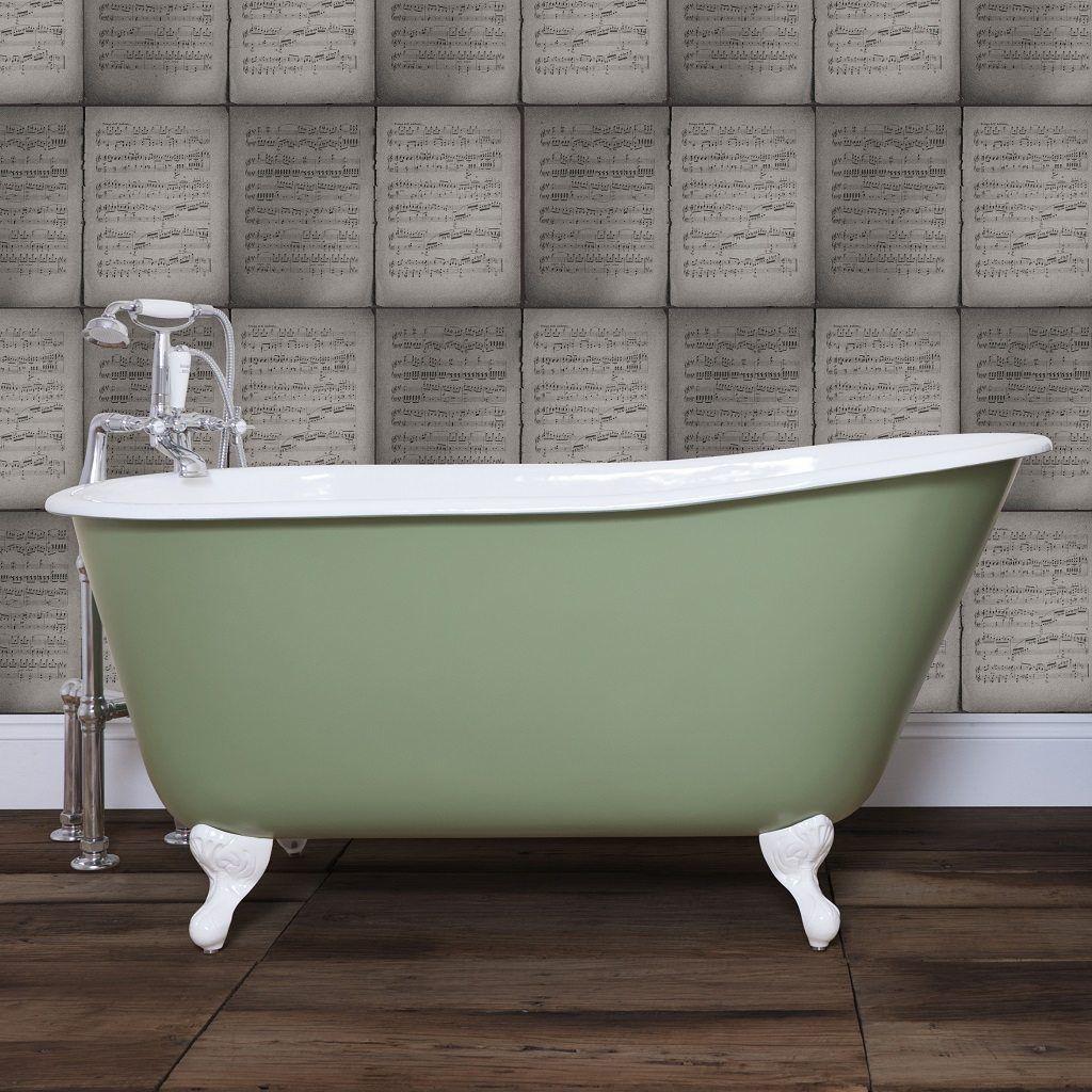 Cast Iron Deep Tub Bath 1370mm Deep Tub Free Standing Bath