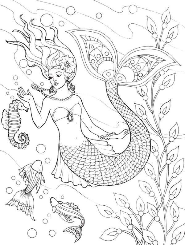 Mermaid by Kaylyn   Mermaid coloring pages, Mermaid ...
