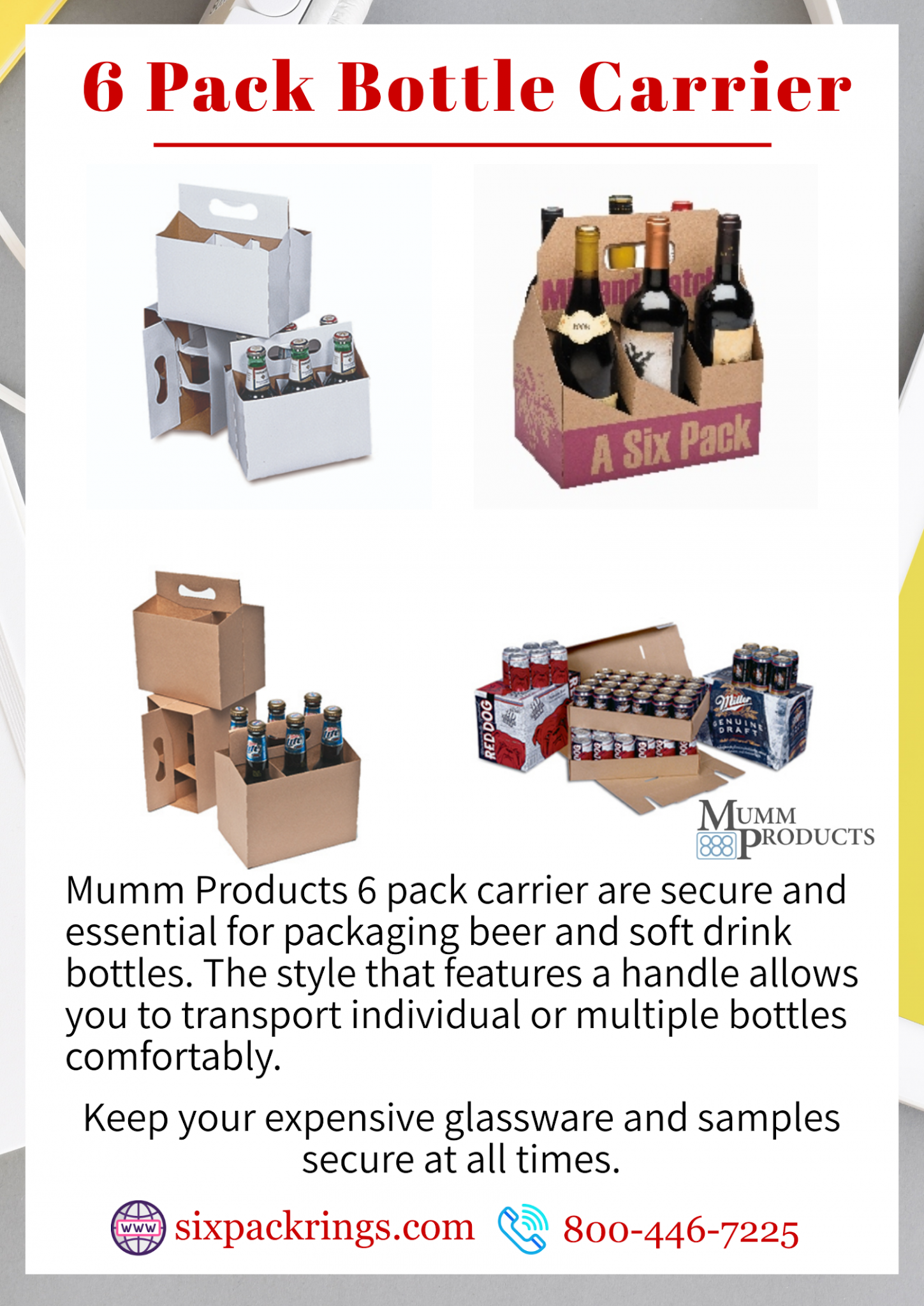 Six Pack Bottle Carriers Are Durable And Functional For Carrying Beer Cider Hot Sauces Spices Condiments And Other Bot In 2020 Bottle Carrier Beer Packaging Bottle