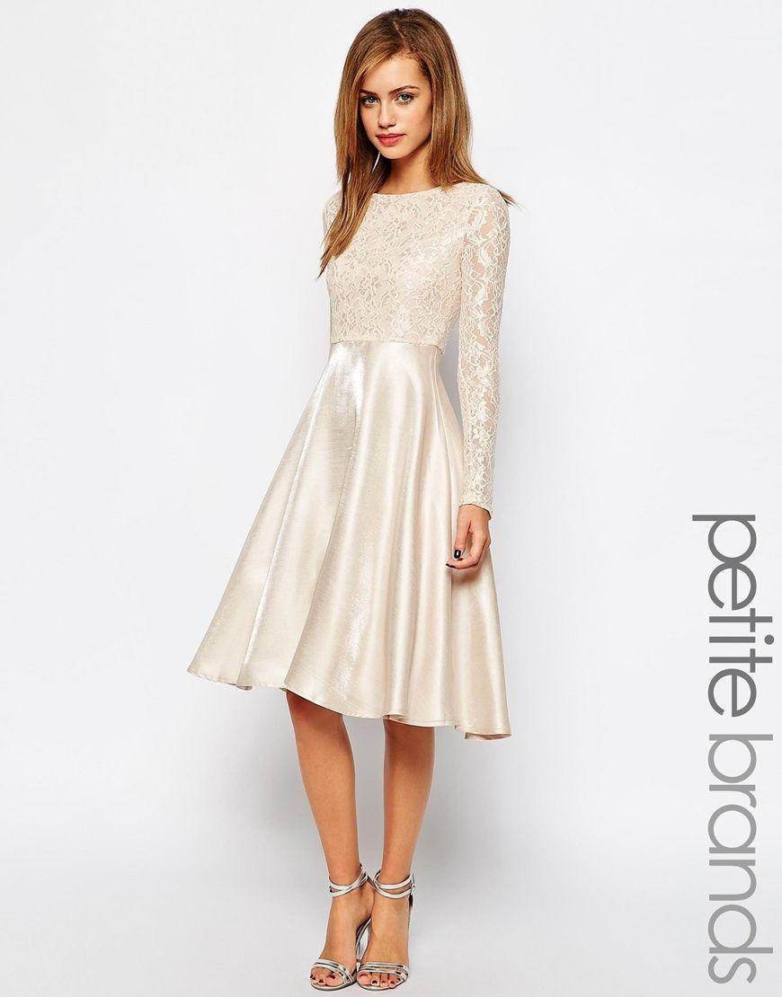 True Decadence Petite Lace Bodice Midi Prom Dress £48 | Gerbear ...