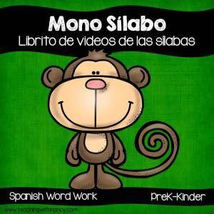 Spanish Silabas Con El Mono Silabo Artesanias De Angeles