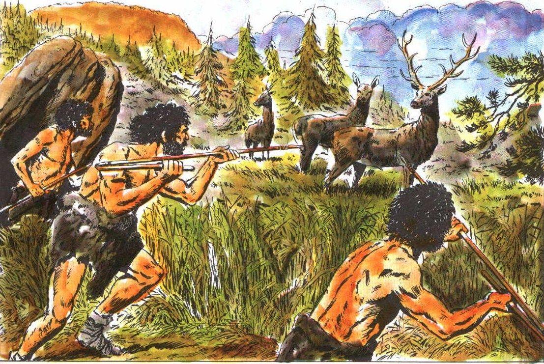охота древнего человека картинки художники-карикатуристы, уже