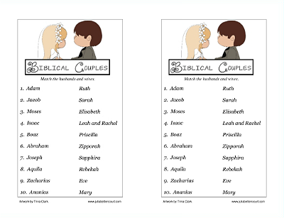 Biblical couples names