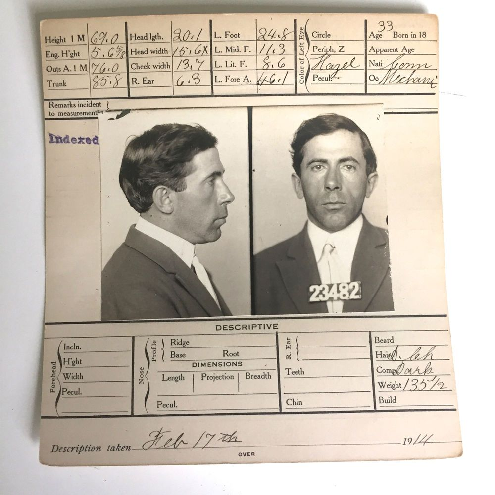 Check our other listings for more mug shot 1914 booking