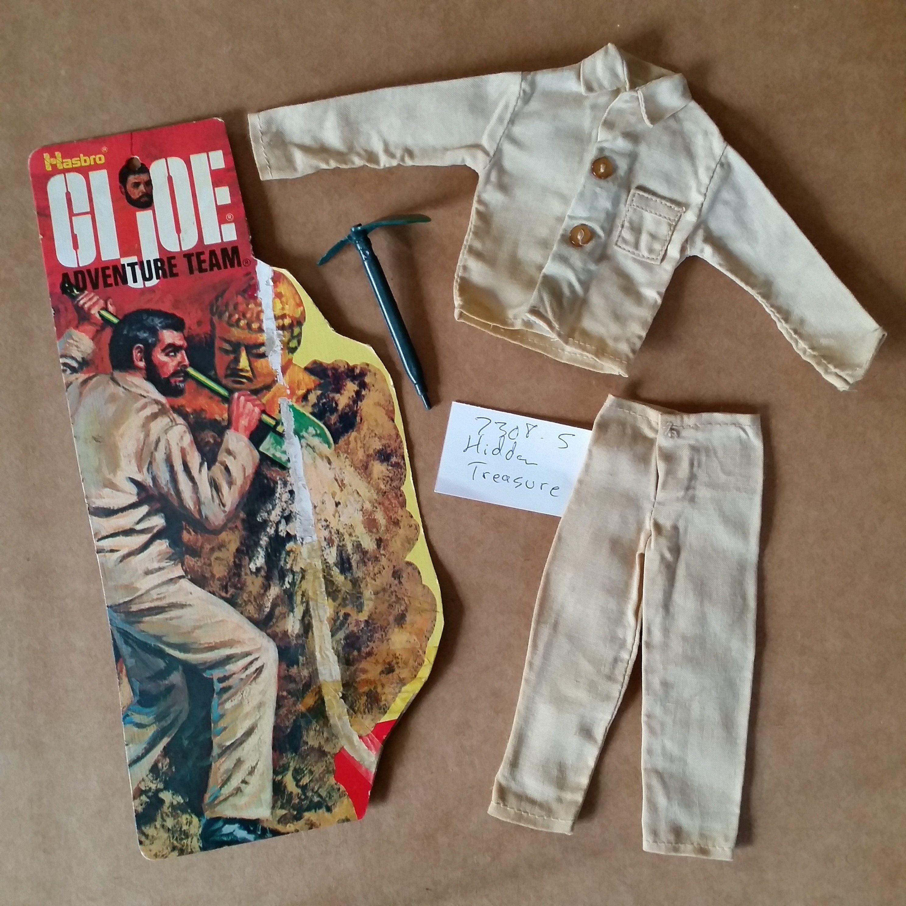 Gi Joe Adventure Team Action Outfit Hidden Treasure 7308 5 1974 By Hasbro Gi Joe Another Period Vintage Toys
