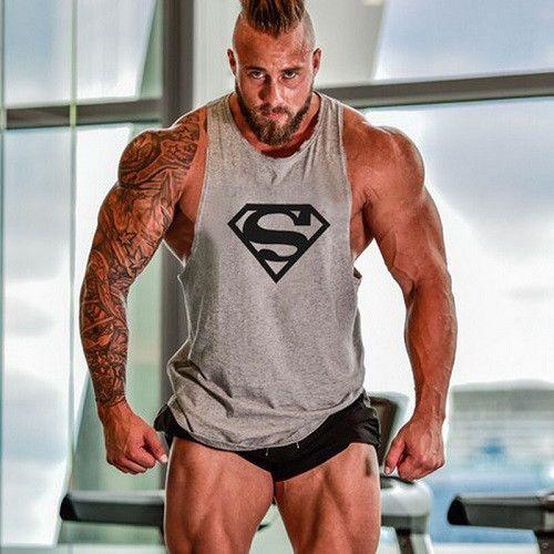 257fcfa4 Fitness Tank Top Men Bodybuilding 2017 Clothing Fitness Men Shirt Crossfit  Vests Cotton Singlets Muscle Top Punisher ZOOTOP BEAR