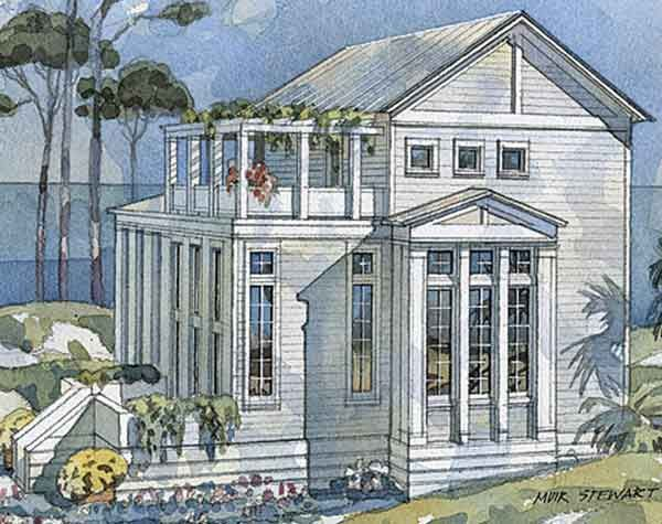 Elegant Classical Retreat   Coastal Living   Coastal Living House Plans