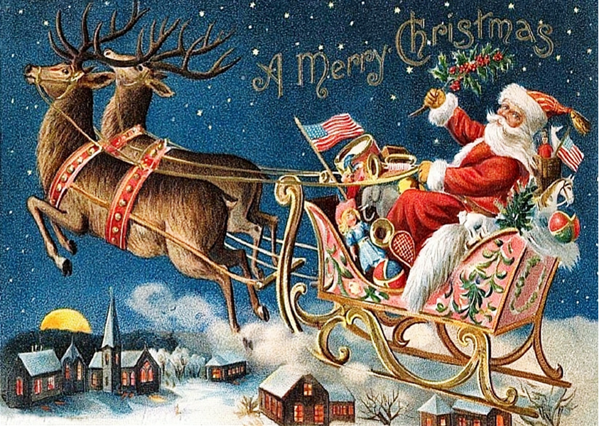 """""""A Merry Christmas"""" Greeting Card"""