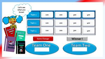 Quick Twelve Question Powerpoint Game Template  Classroom