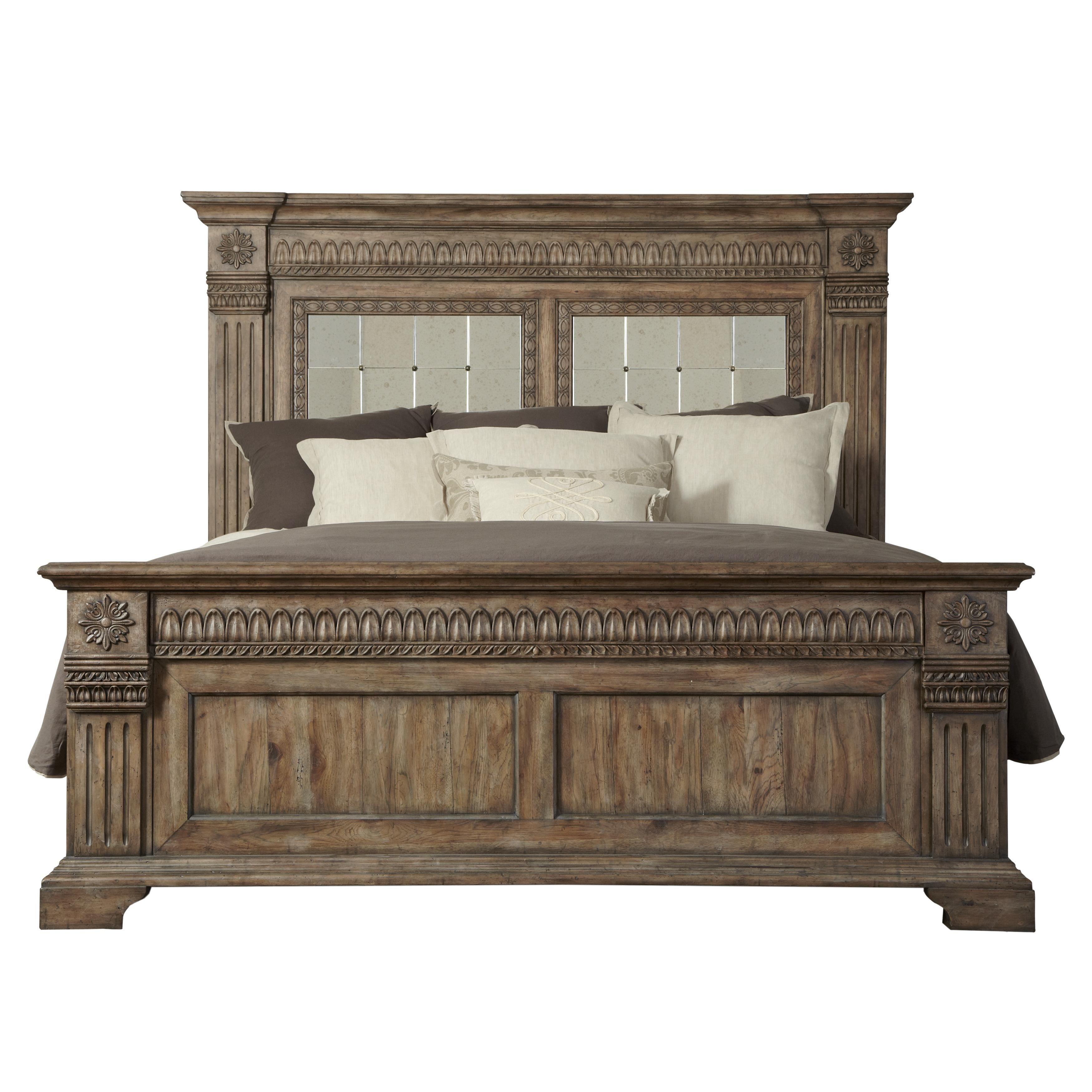 Pulaski Furniture Bedroom Pulaski Furniture Arabella 211 King Panel Bed Ahfa Headboard