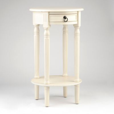 Antique White Round Accent Table | Kirklandu0027s