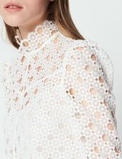 5f39f3717cf5d1 Coralisse | french clothings | Lace crop tops, Tops, White lace blouse
