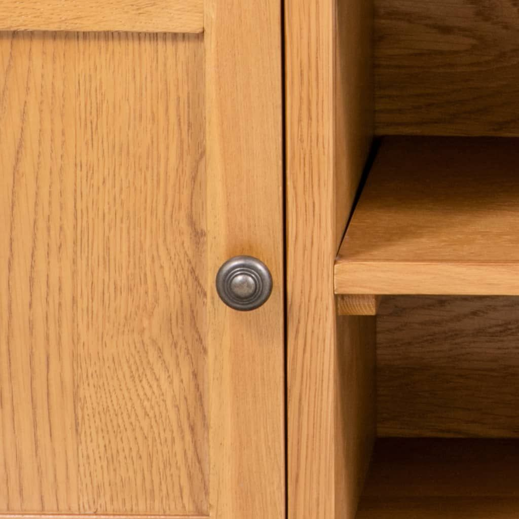 ZNTS TV Cabinet 120x35x48 cm Solid Oak Wood 244467
