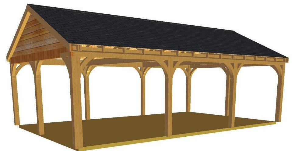 Low Side Gable Lhs Front Jpg 969 495 Carport Plans Carport Designs Post And Beam