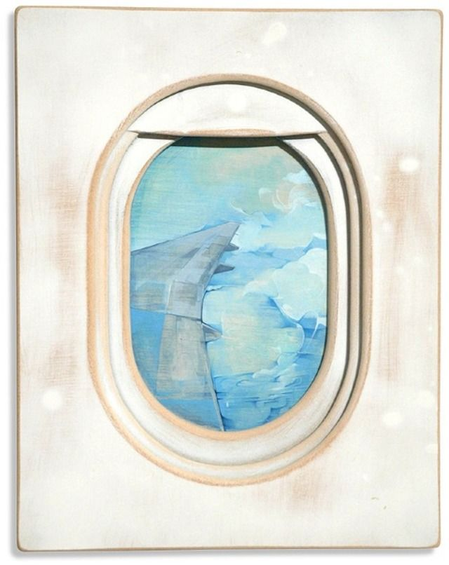 Views From A Plane S Window Paintings Airplane Painting Art