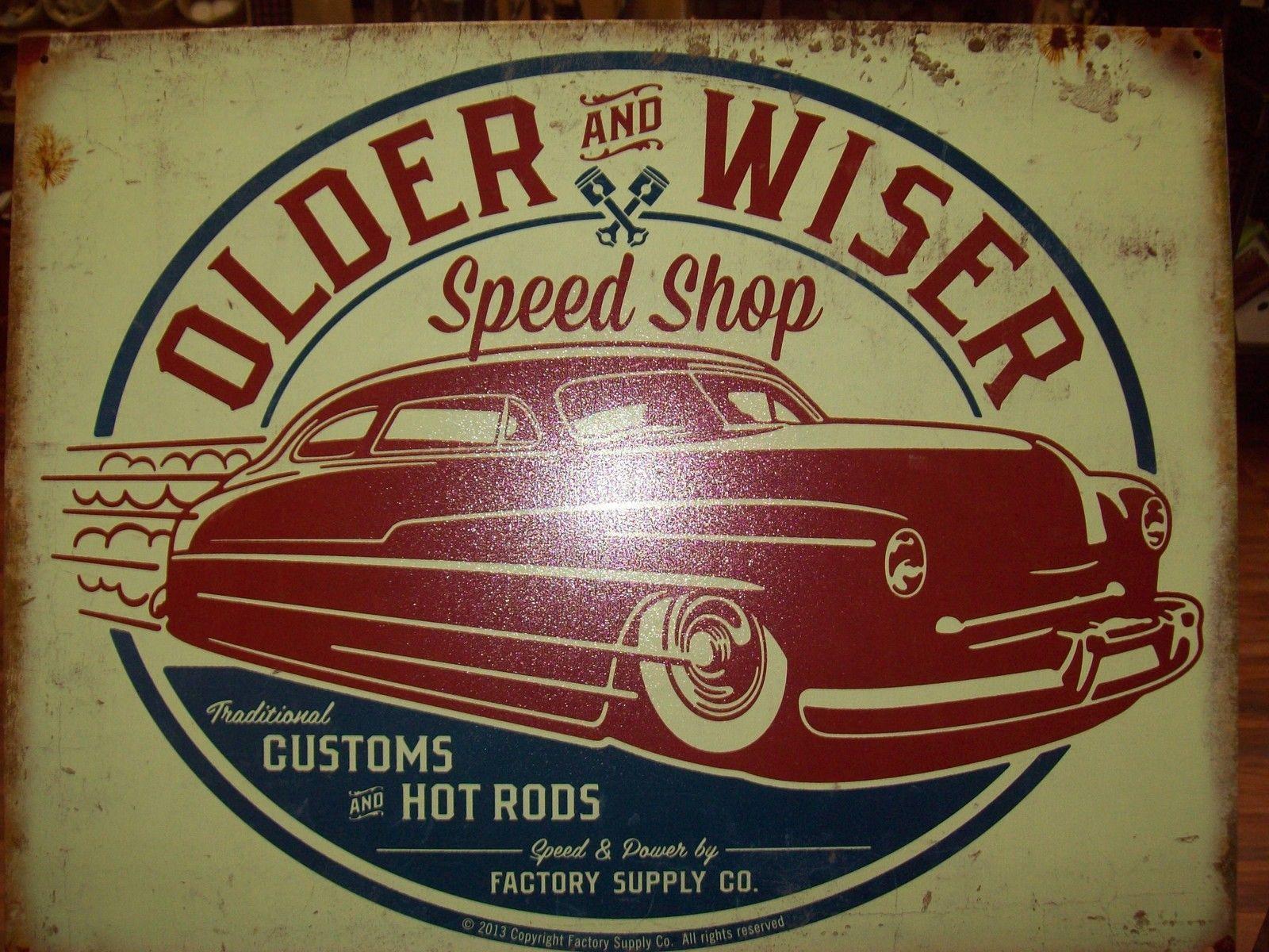 Motoracing Old Car Motorbike 50 Motor Oil Vintage Garage Large Metal Tin Sign
