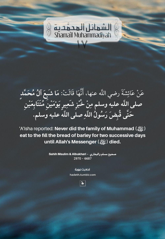 ما جاء في صفة خبز رسول الله صلى الله عليه وسلم 17 The Bread Of Allah S Messenger عن عائشة رضي الله عنها أن Quran Quotes Verses Reflection Quotes Hadith Quotes