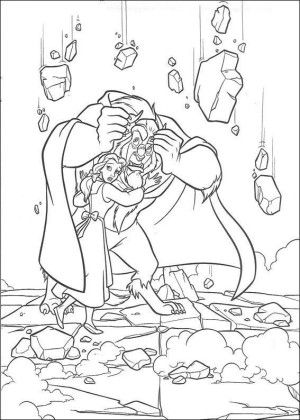 Beauty and the beast coloring page 38