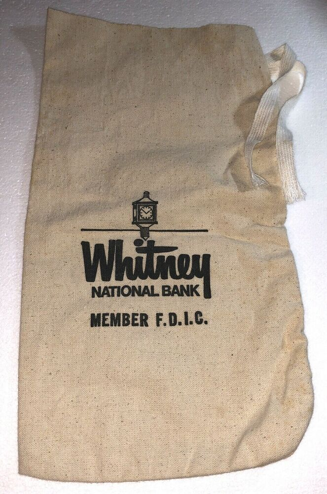 14 5 X 8 Canvas Bank Bag W Ties Whitney National Bank New Orleans Barely Used Whitneynationalbank In 2020 Bank Bag Ebay New Orleans