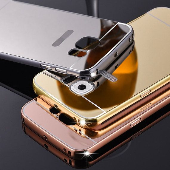 Samsung S7 Edge Curved Mirror Case Samsung Galaxy S7 Edge Case New Luxury Ultra Thin Mirror Metal Frame Mirror Samsung Galaxy Phones Samsung Galaxy S6 Edge