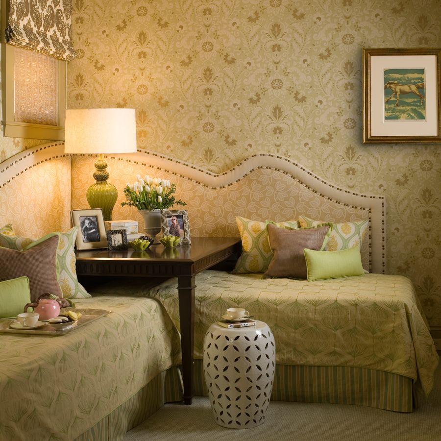Corner Twin Beds, Twin Beds Guest Room