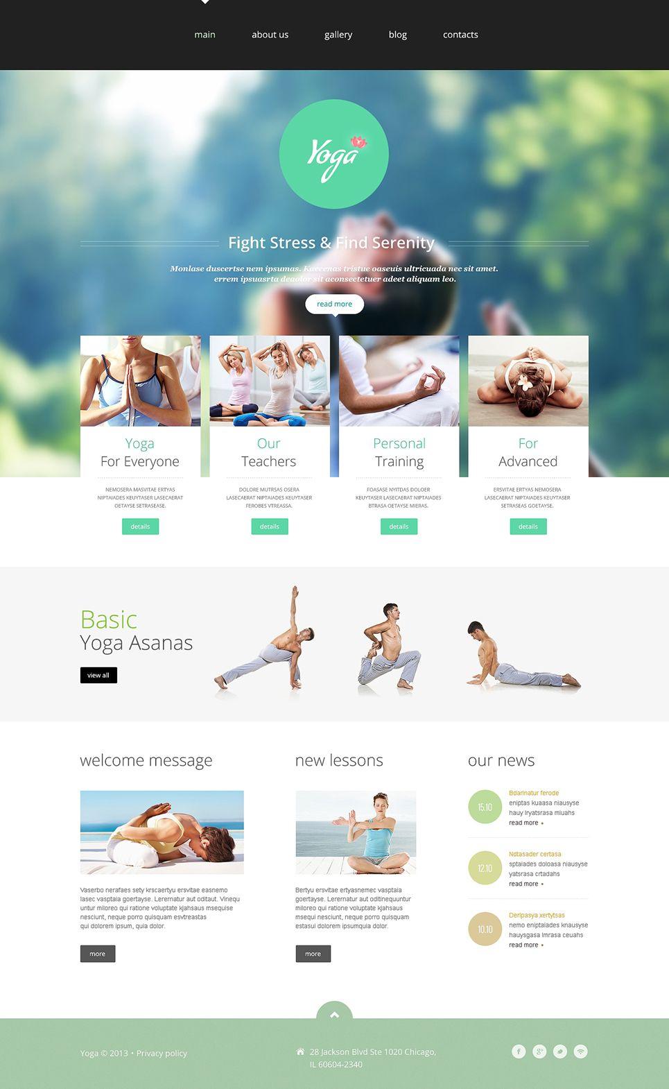 Yoga Responsive Joomla Template New Screenshots BIG | GALEKS | Pinterest