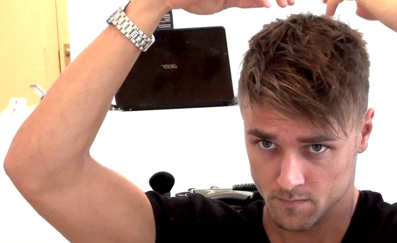 Men's Hairstyle Tutorial With Fringe Bangs High Texture