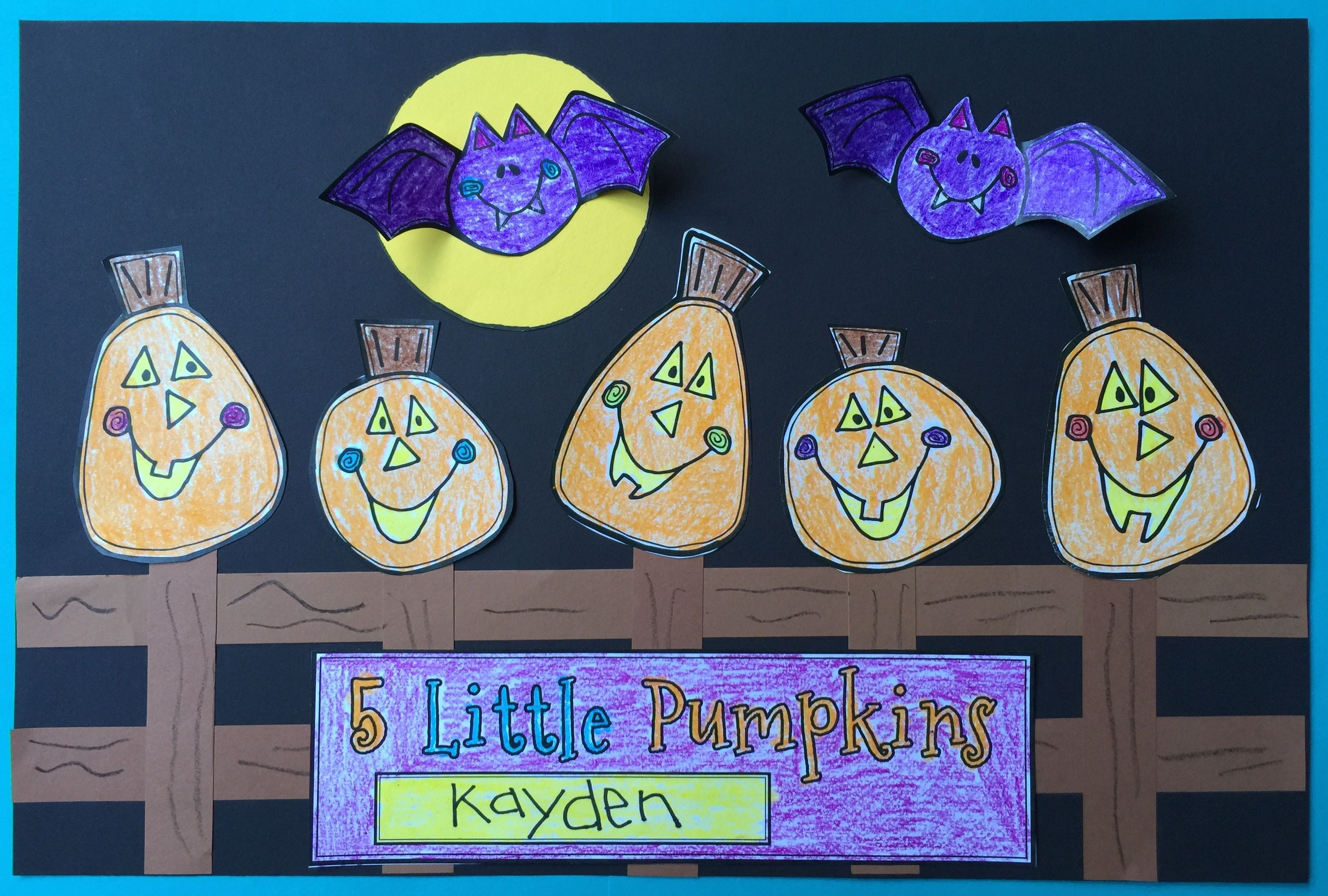 Five Little Pumpkins Craft From Kindergarten With Susie On