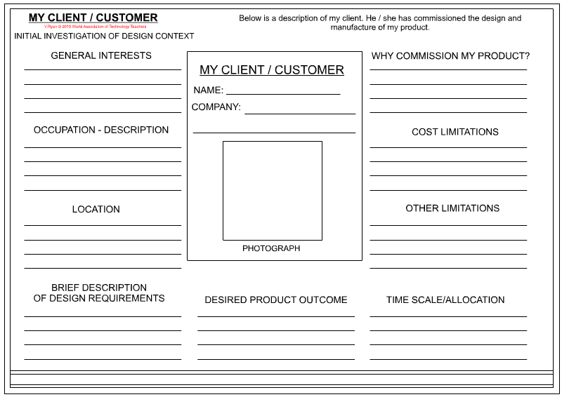 Client  Customer Profile Sheet  Textile Design