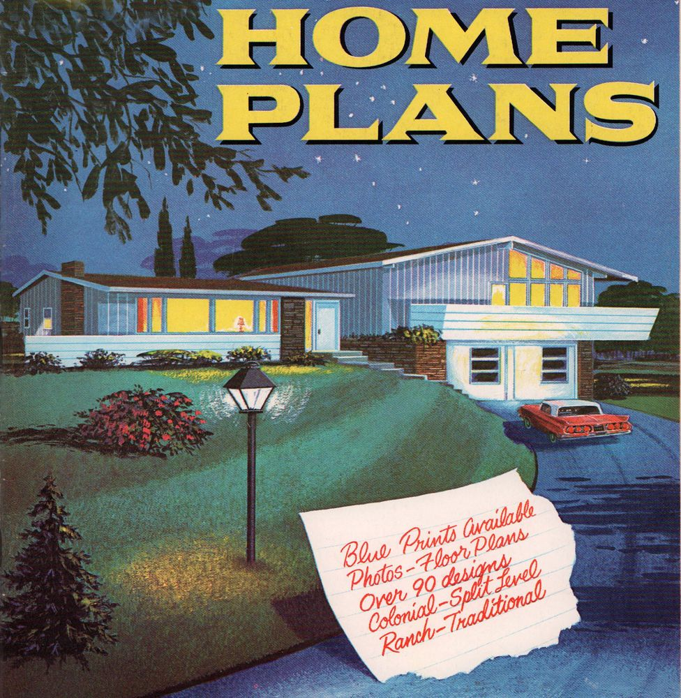 60s AMERICA'S BEST HOME PLANS 90+ Atomic Ranch Colonials Split Level on modernist homes, dwell homes, cottage homes, atomic style homes, 1950s homes, modern homes, interior design homes,