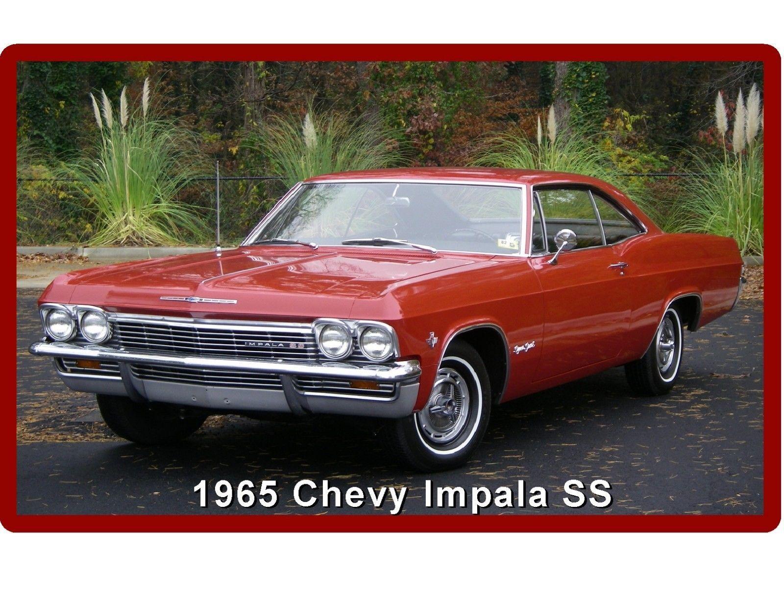 $5 5 1965 Chevrolet Impala Ss Coupe Refrigerator Tool Box Magnet