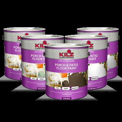 Kilz Color Change Ceiling Paint Primers Specialty Paints Concrete Care Products Kilz Patio Flooring Painted Floors Porch Patio