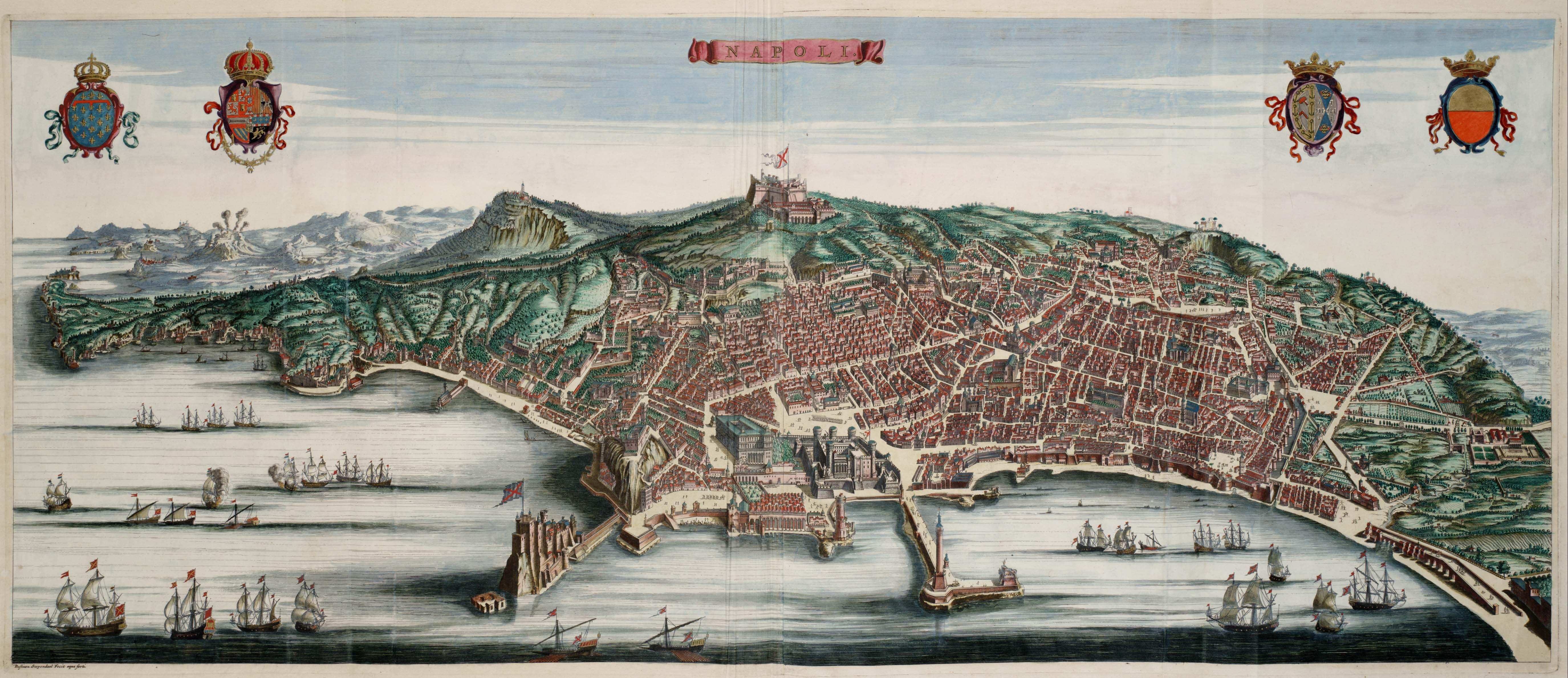 La Cartina Di Napoli.Il Cielo Di Napoli Sezione Topografica Mappa Dell Italia Napoli Viaggio