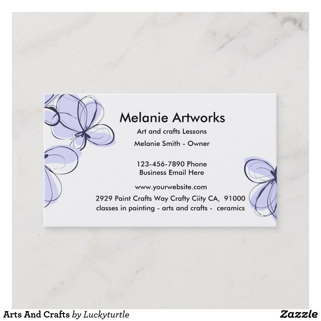 Arts And Crafts Business Card Zazzle Com Craft Business Cards Craft Business Arts And Crafts
