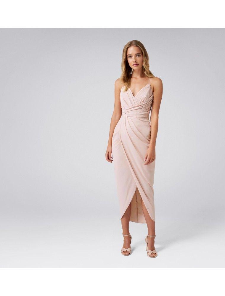 113c59454d7 Charlotte Drape Maxi Dress - Nude Forever New