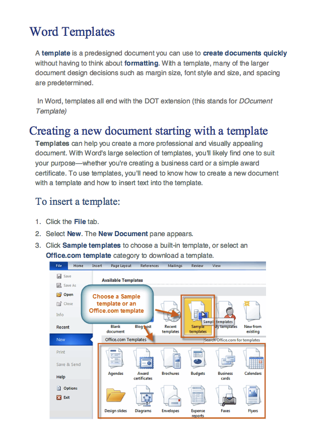 How To Create Word Templates  HttpResumesdesignComHowTo