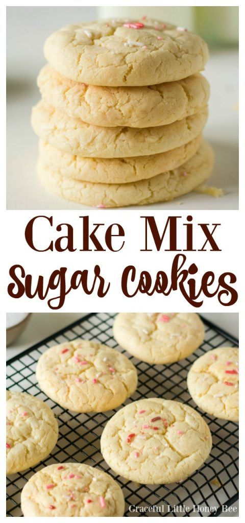 Cake Mix Sugar Cookies #quickcookierecipes