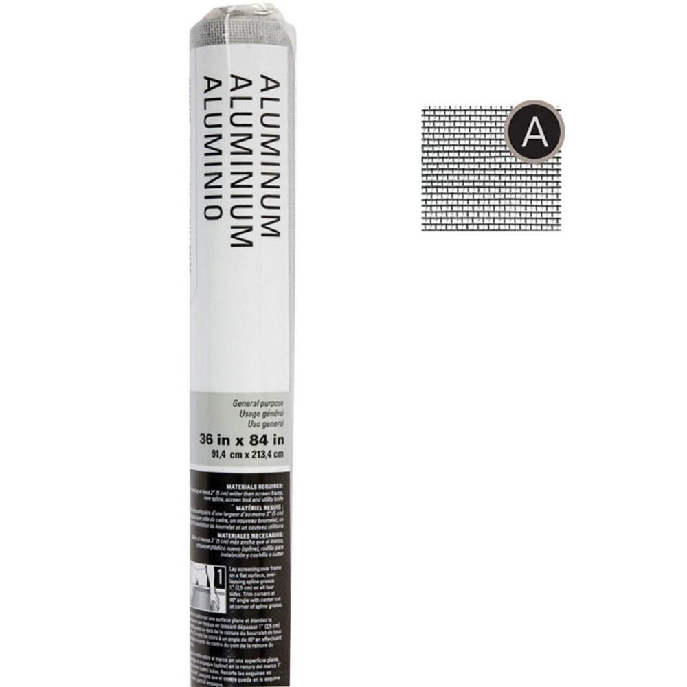 Saint-Gobain ADFORS 36 in. x 84 in. Bright Aluminum Insect Screen ...